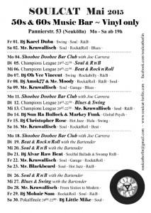 Soulcat Programm Mai 2015